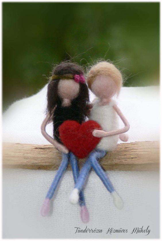 Muñecos fieltreado para san valentín