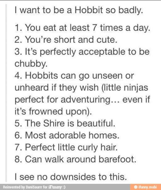 I want to be a Hobbit
