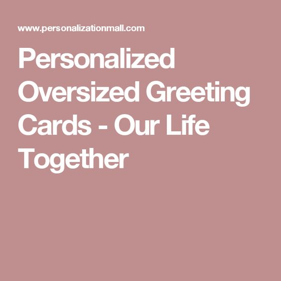 Our life together personalized oversized greeting card our life personalized oversized greeting cards our life together m4hsunfo