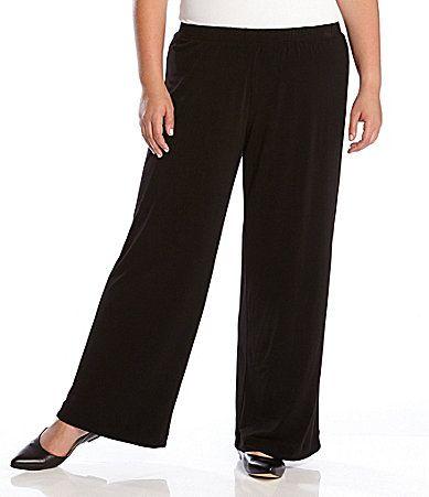Black crepe pants plus size