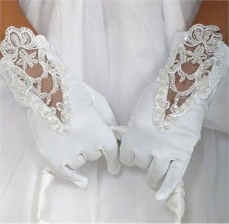 Satin and Lace Gloves