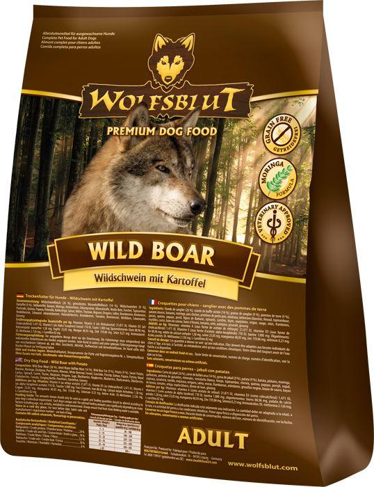 Getreidefreies Hundefutter mit Moringa oleifera: Wolfsblut Wild Boar aus Wildschwein und Kartoffel vereint in sich die besten Inhaltsstoffe. #wolfsblut #healthfood24