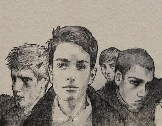 Stiefvater's latest drawing of the raven boys: