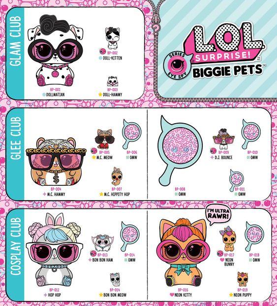 Lol Biggie Pets Checklist From Mgae Website Lolbiggiepets Lolpets Lolsurprisebiggiepets Lolsurprise Loldolls Loloriginal Lolsu Lol Dolls Cute Toys Pets