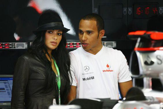Lewis Hamilton and Nicole Scherzinger Photo - Brazilian F1 Grand Prix