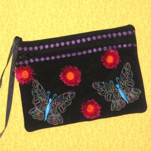 Clutches, Butterflies and Embroidery on Pinterest