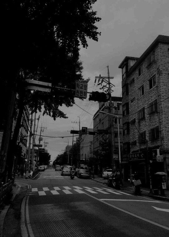 South Korea In Black And White Black And White Aesthetic Aesthetic Backgrounds Black And White Wallpaper