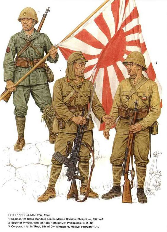 """The """"Opposition"""" .  As the War progressed, not nearly as well supplied or technically advanced as their American counterparts,  but a ruthless, highly motivated and capable force to be reckoned with.."""