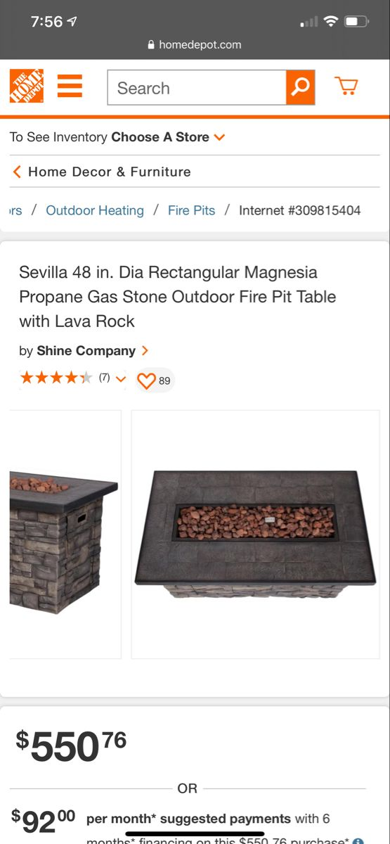 Shine Company Sevilla 48 In Dia Rectangular Magnesia Propane Gas Stone Outdoor Fire Pit Table With Lava Rock 6103sc The Home Depot In 2020 Outdoor Fire Pit Table Fire Pit Table