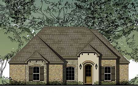 Plan 83079dc 3 bedroom house plan with options european for Gable garage plans