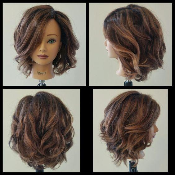 Round brush curls #2