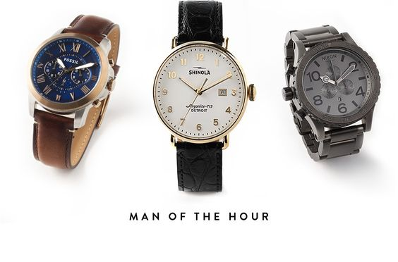 Man of the hour: watch gifts for Father's Day.