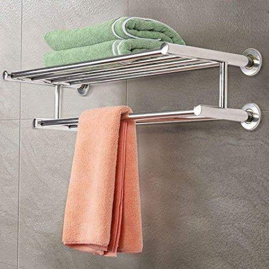 Goplus Wall Mounted Bathroom Towel Rack Towel Rack Bathroom