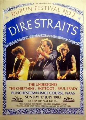 1983 poster. Dire Straits