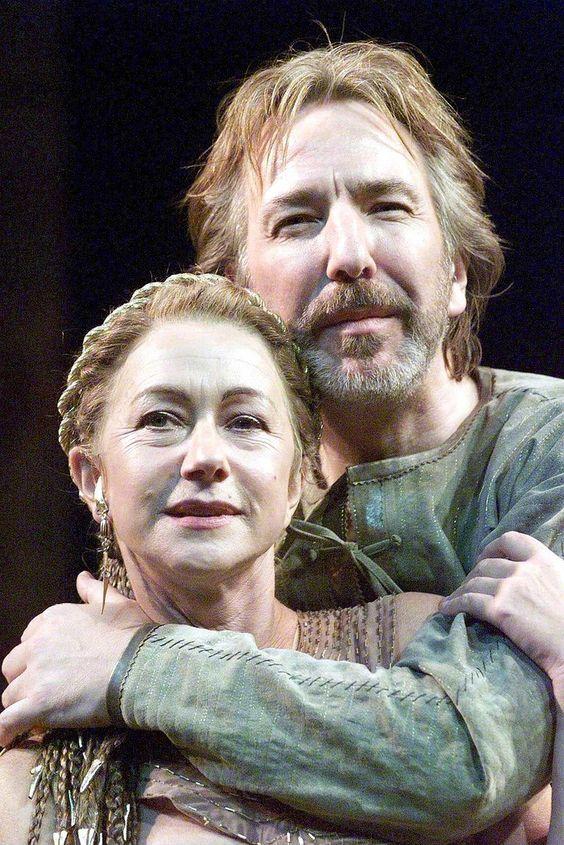 Alan Rickman & Helen Mirren in the play Antony and Cleopatra - 1998: