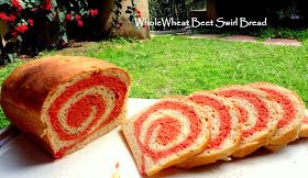 AMBROSIA: Whole Wheat Beet Swirl Bread (Vegan)
