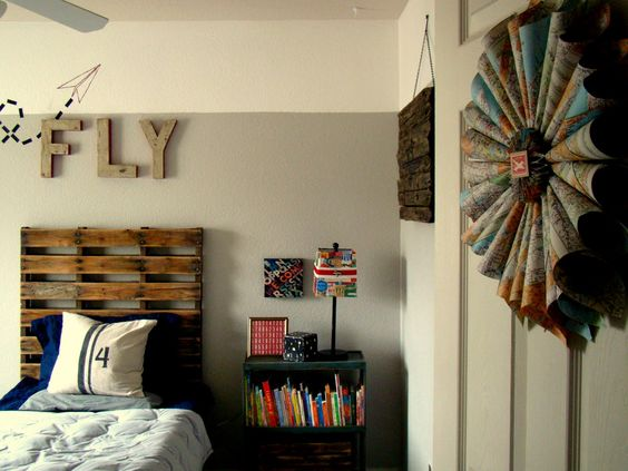 travel themed room. everything in the room is DIY!