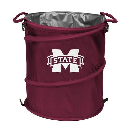 Mississippi State Bulldogs Collapsible Trash Can Cooler Chairs Logo Trash Can Trash
