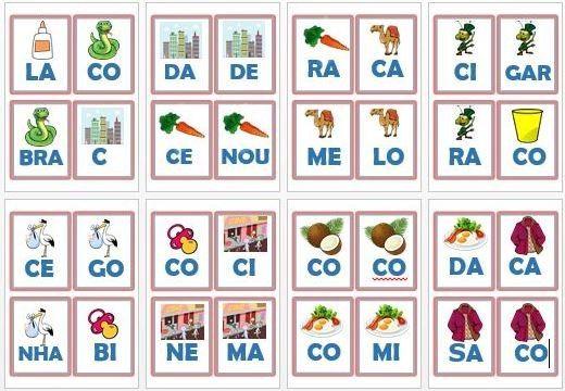 Foto 1 Jogo Monte Palavras Letra C Letra C Jogos De Alfabetizacao Ensino Da Leitura