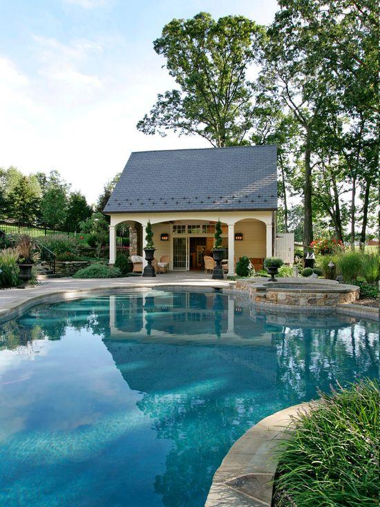 16 Lovely Pool Cabana Design Ideas | Pool house decor, Pool ...