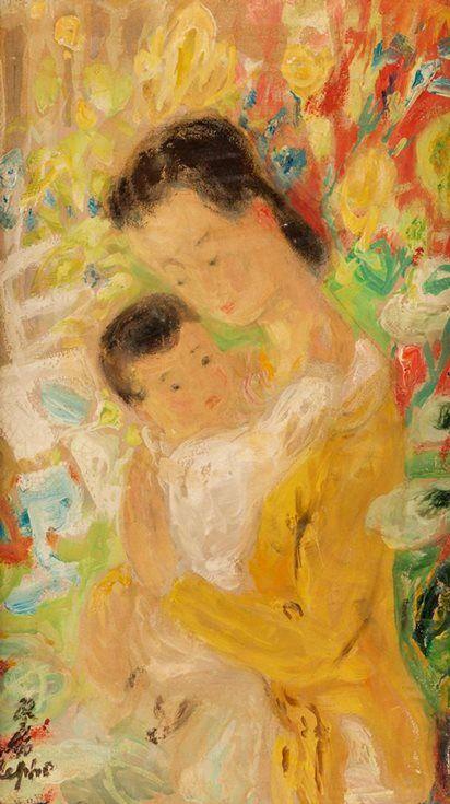 """""""Mere et enfant"""" (1970) by Le Pho"""