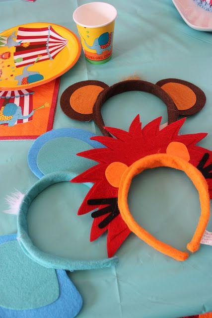 Diademas de animales hechas con fieltro para los peques de la casa. Headbands for the kiddies