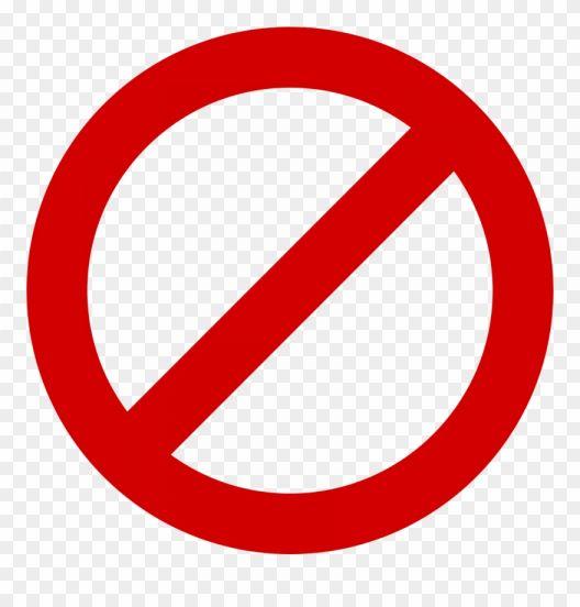 17 Circle Slash Icon Symbols Red Circle Logo Clip Art