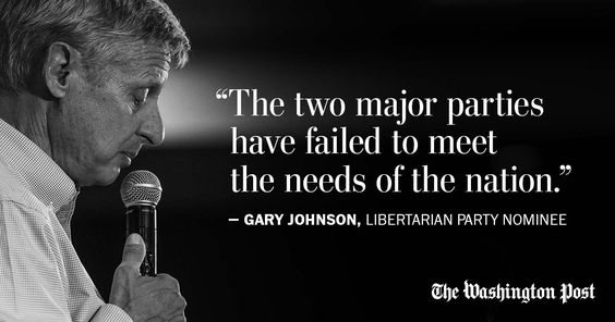 Gary Johnson: Our two-party system has failed, just like our founders said it…