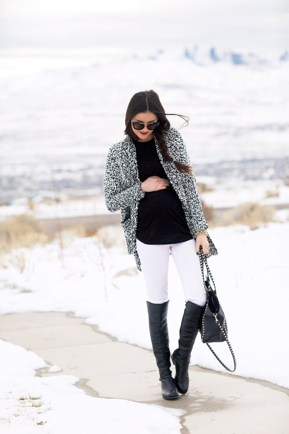 black-and-white-oversized-sweater