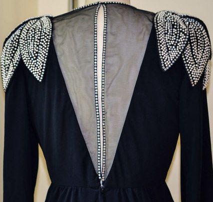 Robe noire annee 70