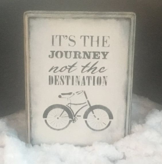 It's The Journey Not the Destination Wooden Sign by VioletValerian