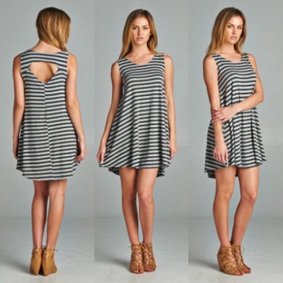 Our By The Shore Striped Jersey Knit Dress will help you transition easily to warmer days & sunny skies! Layer now and rock as your favorite summer dress later!