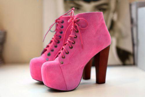 Pink Sneaker Heels