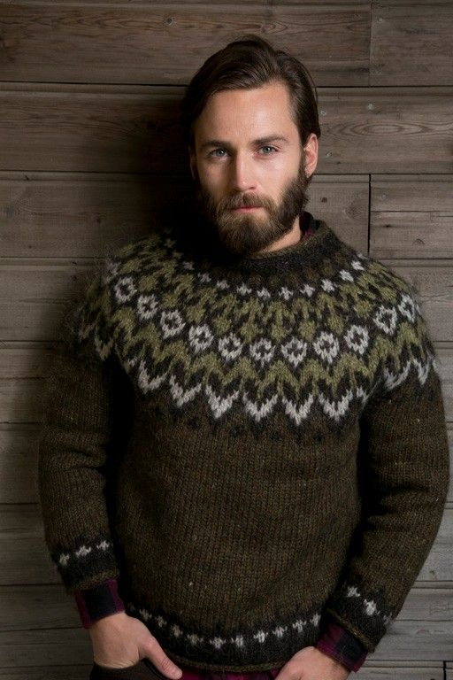 Mens Icelandic wool sweater