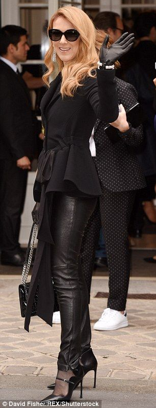 Black to basics: The superstar arrived at the event in an all-black ensemble that included...