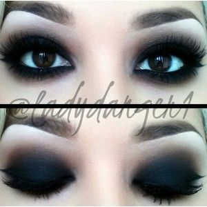 Dark make up Goth makeup | Everyday Clothing | Pinterest ...