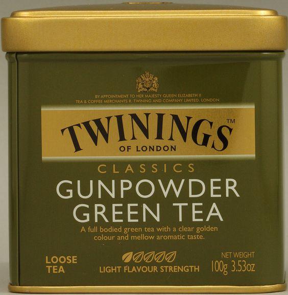 Clásico té verde para hacer el té moruno... Gunpowder, en la imagen el de Twinings.