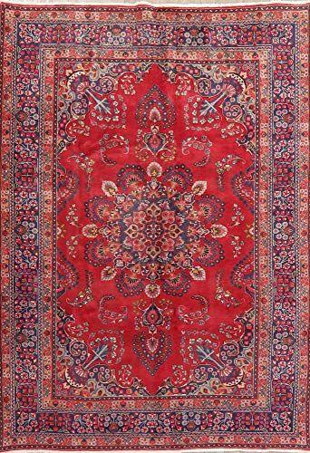 Vintage Fl Mashad Persian Area Rug