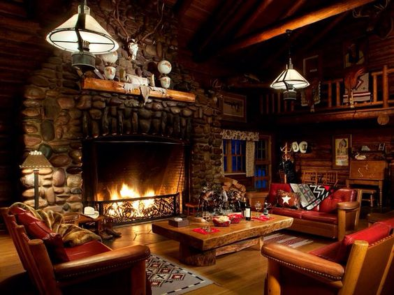Log cabin fireplace log cabin love pinterest colors for Log cabin fireplaces pictures