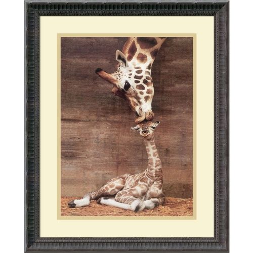 Makulu - Giraffe First Kiss Framed Wall Art