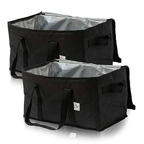 Set of 2 Grocery Bags Cooler Bag Insulated Food Delivery Grocery Bag
