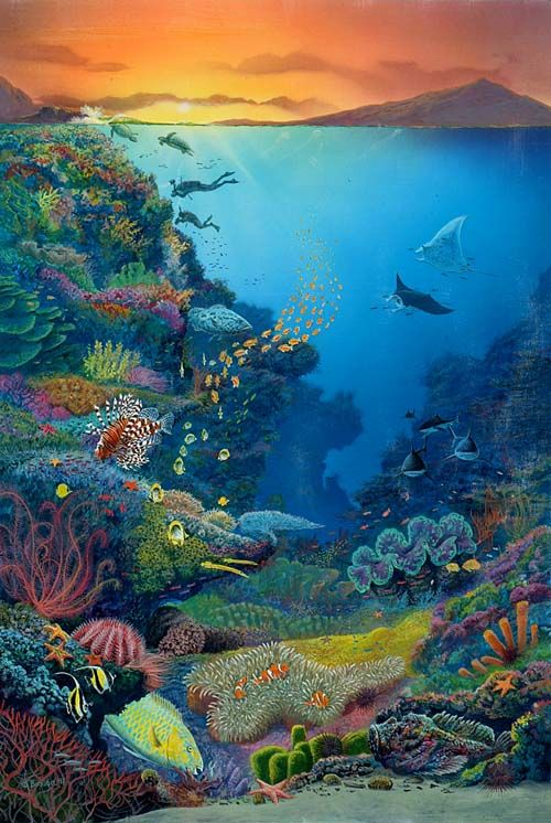 The incredible great barrier reef nemo 39 s world for Australian mural artists