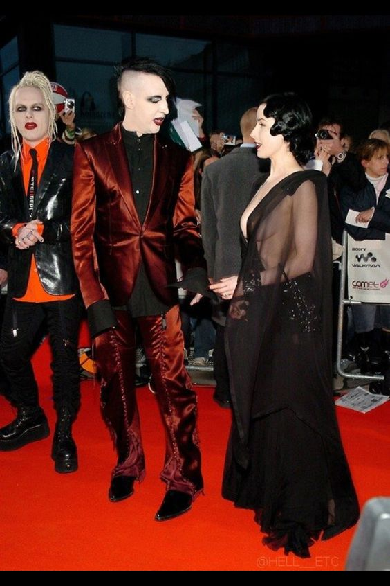 marilyn manson and his wife ditta von tessa ( lookn good )