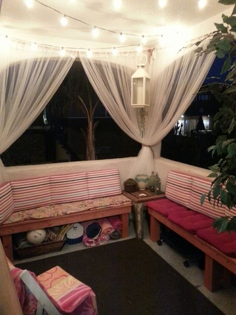 Curtain For Balcony: Outdoor Benches, Patio And Net