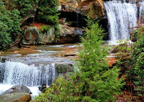 Falling Waterfall Photo Print, Scenic Photography, Waterfall Photography, Landscape Photography, Home Decor Photography, Woods Photography