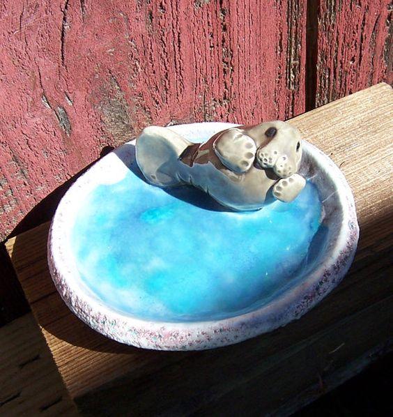 Manatee soap dish