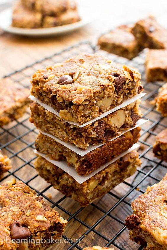 Oatmeal breakfast bars, Chocolate chip oatmeal and Breakfast bars on ...
