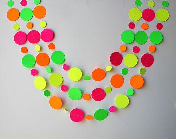 Neon decorations Hawaiian party Birthday by TransparentEsDecor