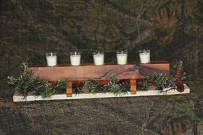 Elegant Rustic Handmade Mesquite Candle Table Centerpiece - Candle Holder - Shipping Is $19.00 each