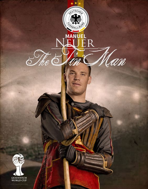 Manuel Neuer as a Quidditch player! I love this <3